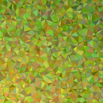 Olive irregular triangle mosaic vector background