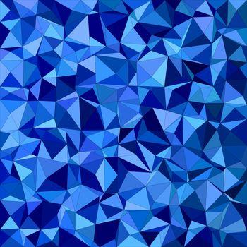 Blue irregular triangle mosaic background