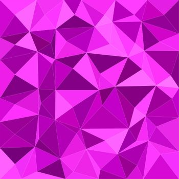 Magenta irregular triangle mosaic background