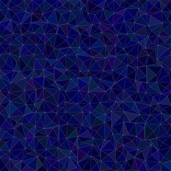 Dark blue triangle mosaic background design