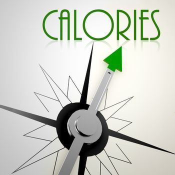 Calories on green compass