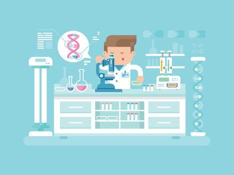 Genetics doctor man