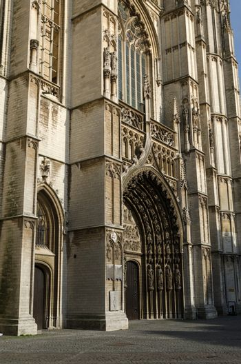 Main portal on the cathedral of Our Lady in Antwerp