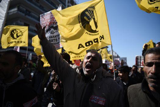 GREECE - MIGRANTS - PROTEST