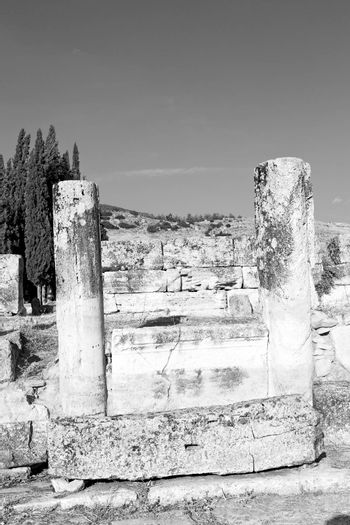 and the roman temple history pamukkale    old construction in as