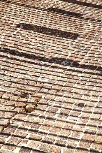 abstract step   brick in  italy   background