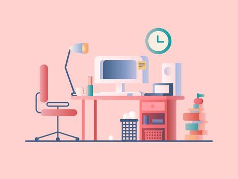 Workplace design flat