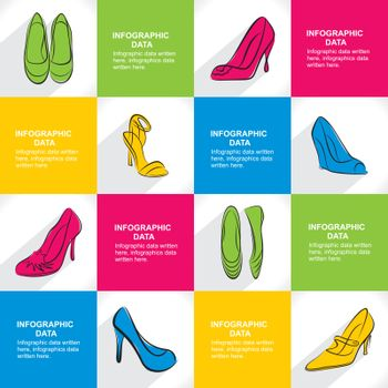 creative fashion footwear banner design vector