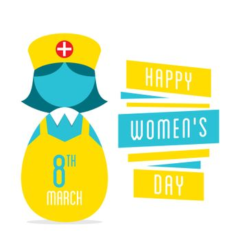 happy womens day, women nurse profession design
