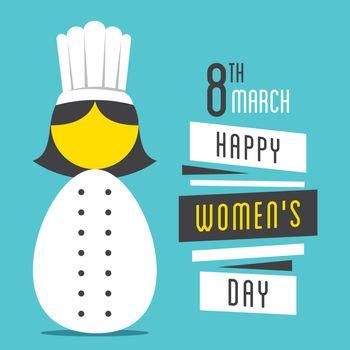 happy womens day, women chef profession design