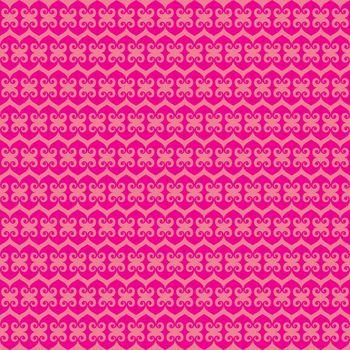 creative heart shape pattern pink background vector