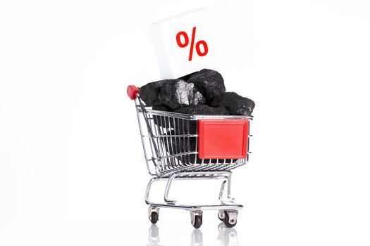 concept of black friday shopping cart