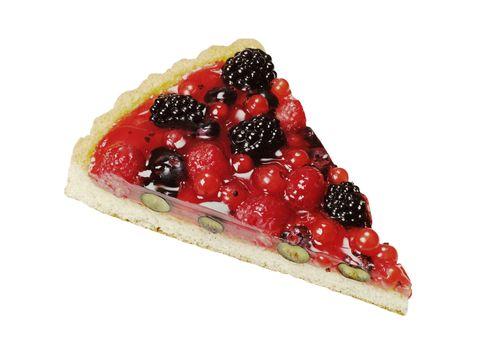 Slice of berry fruit tart
