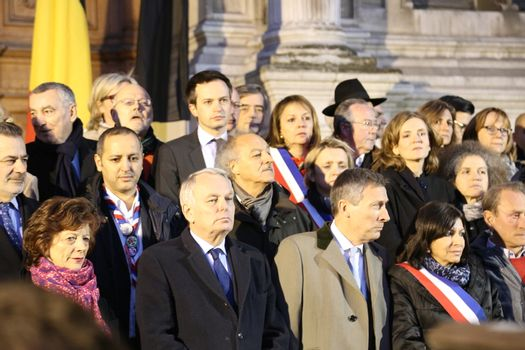 FRANCE-PARIS-MINUTE OF SILENCE FOR BELGIUM ATTACK