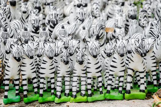 The Zebra statues
