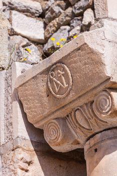 Christian Symbol at Selcuk in Turkey