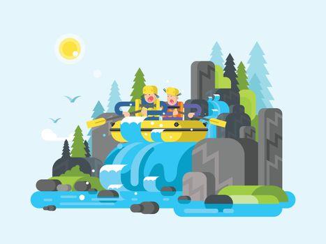 Water river slalom rafting