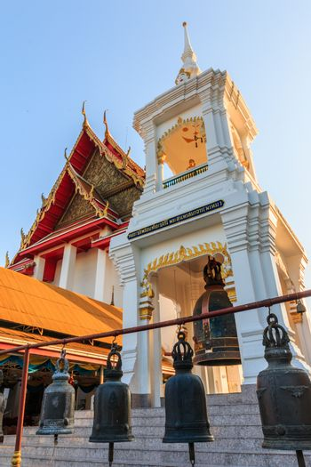 Main Hall, Thailand Style Belfry (Thai Bell Tower) and Natural stone carve granite chinese pagoda