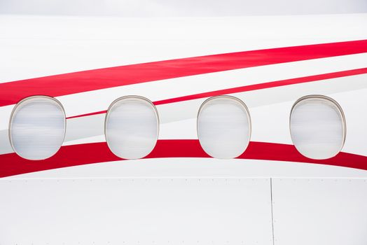Windows of business jet
