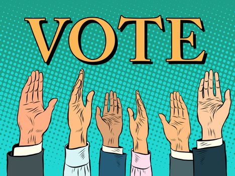 Voting hand picks up a voice of support