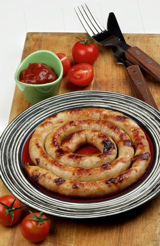 Grilled Spiral Sausage