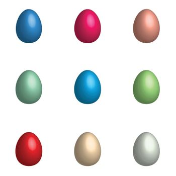 Easter background with eggs set.