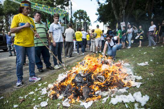 BRAZIL-CURITIBA-GOVERNMENT PROTEST