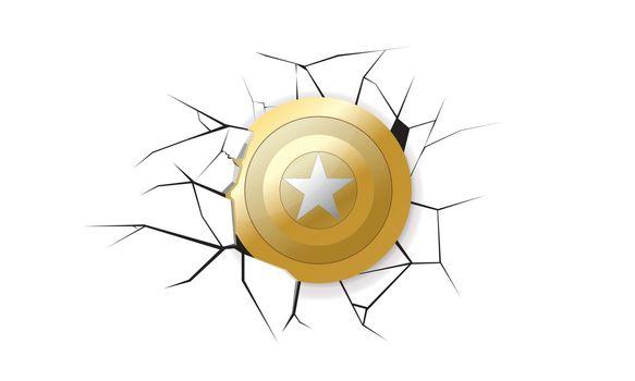 America Shield Gold Earthquake