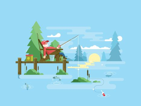 Rest fishing design