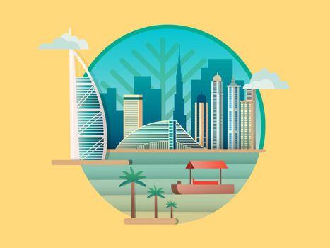 Dubai city building icon