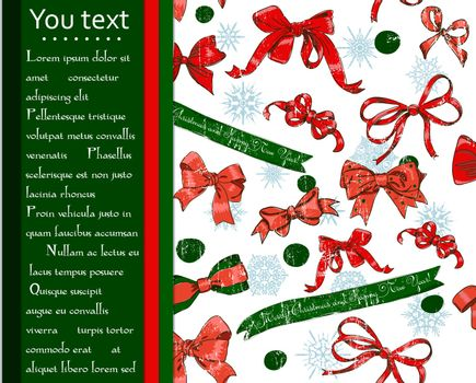 Christmas card with seamless texture. Vector illustration EPS10