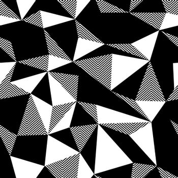 Triangle seamless black and white pattern