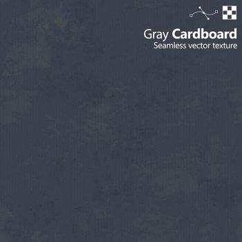 Gray color cardboard seamless vector texture.