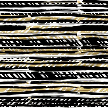Abstract hand drawn native pattern. Seamless hand-drawn lines ve