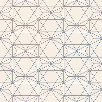 Abstract Seamless Geometric Vector Hexagon Pattern. Mesh backgro