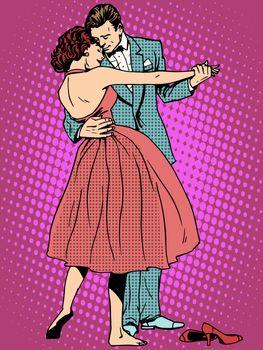Wedding dance lovers man and woman