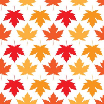 Vector seamless wallpaper. Autumn maple leaves