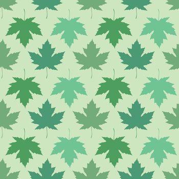 Vector seamless wallpaper. Maple leaves
