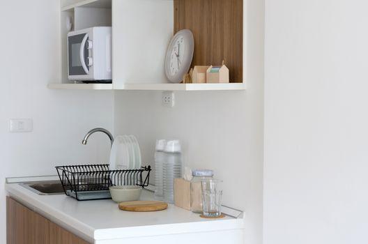Modern pantry with utensil