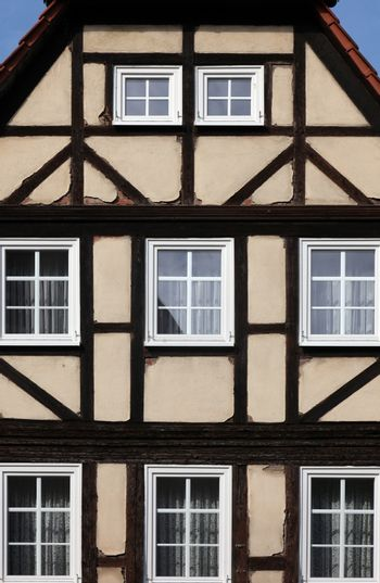 Half-timbered old house in Gemunden, Germany