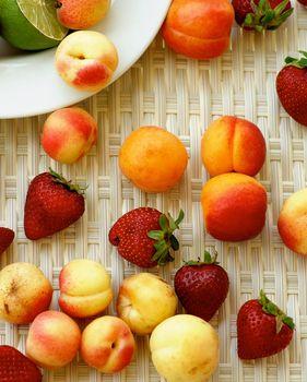 Various Summer Fruits