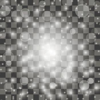 Explosive with Spark. Glow Star Burst