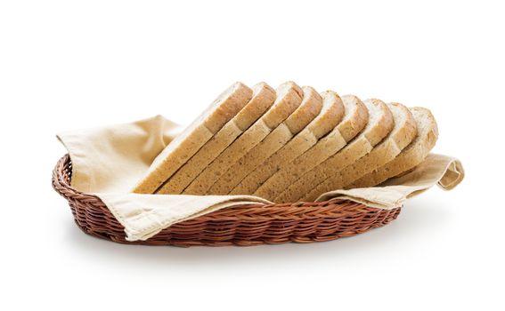 Toast bread in a basket
