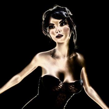 3D Illustration; Portrait of an attractive Woman