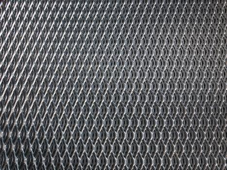Galvanised steel grid