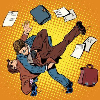 Fight men businessmen