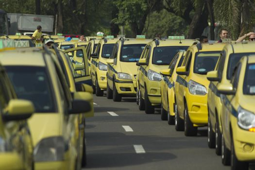 BRAZIL-RIO DE JANEIRO-TAXI DRIVER PROTEST