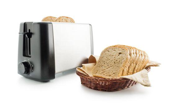 Toast bread and toaster
