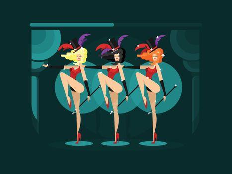 Cabaret dance girls