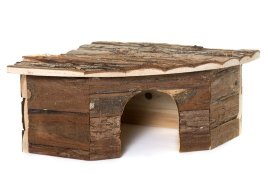 wood shelter for rodent